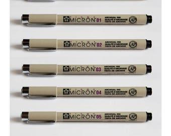 7 Drawing Pen Set - Sakura Pigma Micron Drawing Pen
