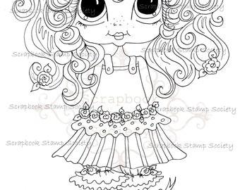 INSTANT DOWNLOAD Digital Digi Stamps Big Eye Big Head Dolls Digi  My Besties IMG725 By Sherri Baldy