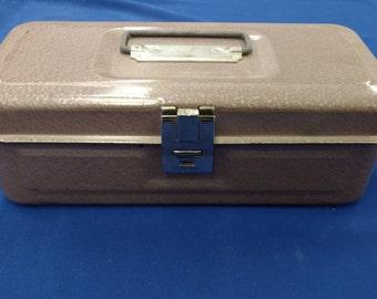 Vintage Steel Lockbox w/key