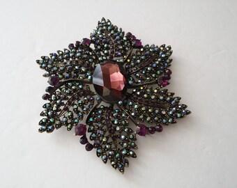 Joan Rivers Large Flower Brooch