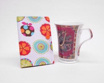 multi colored tea wallet, travel tea bag holder, tea bag caddy, tea bag organizer, tea lover's gift, gift for her, gift under 10, tea pouch