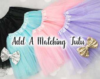 TUTU ADD ON: Baby Girls Tutu, Tulle Tutu, Tutu with Bow, Birthday Tutu, Dress Up Tutu, Dance Tutu, Girls Tutu