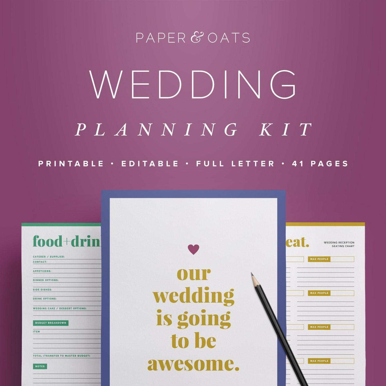 wedding planning checklist templates