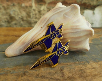 Blue And Gold Fighter Jets - Blue Angel Fighter Jets - Military Fighter Jet - Prissys Newberry Antiques