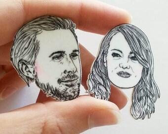 La La Land/Ryan Gosling/Emma Stone/Mia and Sebastian/Pin/Illustrated Pin/