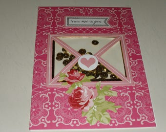 From Me To You Valentine Shaker Card