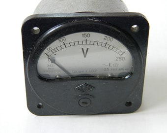 Vintage Voltmeter USSR 1967 Collectible Measuring Device Steampunk Decor Industrial