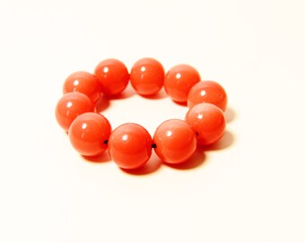D-00961 - 10 Glass beads 8mm Coral