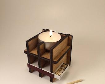 Tea Light and Match Holder