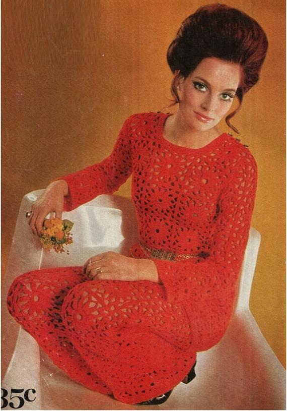 Patron pdf de tejido en crochet vestido y pantalones de los