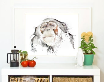 MEDITATION - Ape *Limited Edition Giclée Print on Watercolour Paper - 300gsm.
