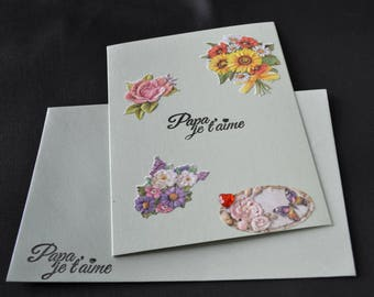 Fathers Day greeting card with matching envelope