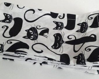 Large Cloth Napkins, Set of Four - Cats // Everyday Napkins // Family Napkins // Eco Friendly // Hostess Gift // Housewarming