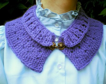 Short Row Collar PDF Knitting Pattern