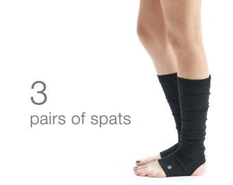 Set Of 3 Pairs Yoga Spats/ Yoga Accessory/ Yoga Socks/ Unisex Yoga Spats/ Leg Warmers by AryaSense