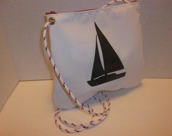 Crossbody sailcloth bag