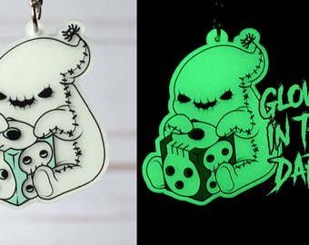 Kawaii Oogie Boogie Nugget Glow in the Dark Charm Keychain