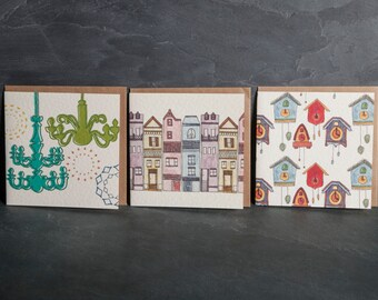 Greeting Cards, Pack of 3 cards - 3 different designs