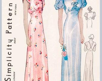 ann es 1930 des ann es 30 couture vintage motif robe. Black Bedroom Furniture Sets. Home Design Ideas