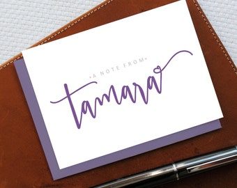 Monogrammed Note Cards, Monogram Stationery Set, SCRIPT MONOGRAM Personalized Stationery, Bestfriend Gift, BFF Gift for Woman, MNC034