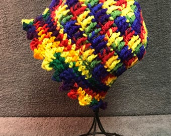 Rainbow of Colors Crocheted Hat