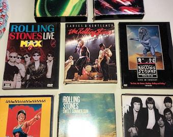 Set of 8 Rolling Stones dvds
