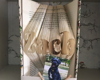 DIY folded book with name of choice
