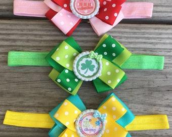 Holiday Bow Headbands  /Valentines Headband / St Patricks Day Headband /Easter Headband / Set of 3