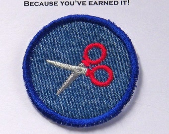 Scissors Iron-on Patch / Merit Badge