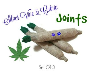 Cat Toys -  Silver Vine & Catnip Joints - Set Of 3