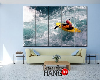 Kayaks Sports canvas, Rafting print, River sport canvas, Kayaks Sports art, Kayaks  canvas, Kayaks art, Rafting canvas, Rafting wall art