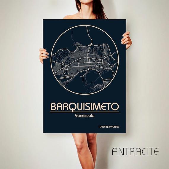BARQUISIMETO Venezuela CANVAS Map Barquisimeto Poster City Map