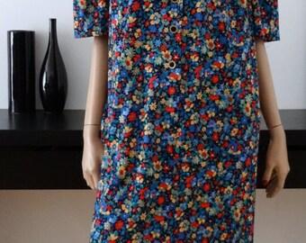 vintage floral dress size 50 - uk 18 us - 22
