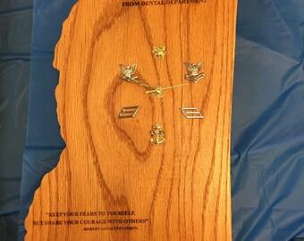Mississippi Clock Plaque