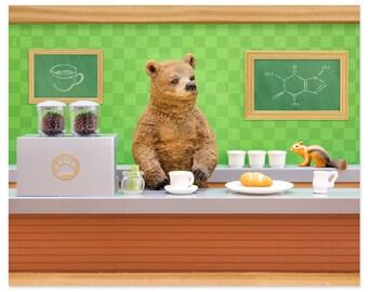Coffee lover wall art: Bearista
