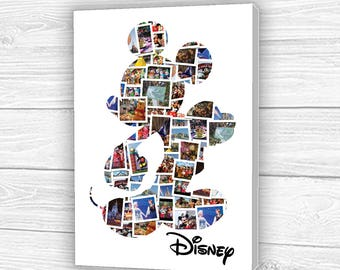 Personalised Disney Mickey Mouse Photo Collage Canvas, Print or Digital Copy