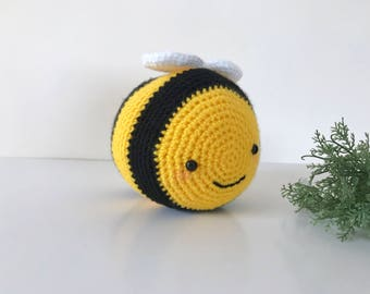 Made to Order: Chubby Bee Amigurumi Doll (13cm long!)