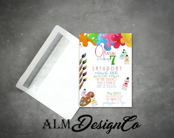 Painting Party Invitation - Art Party Invitation - Art Invitation - Art Birthday Invitation - Art Party - Painting Party - Painting Invite