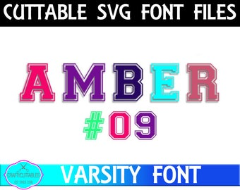 Jersey Letter Font SVG, PNG Files Silhouette Cameo and Cricut Files