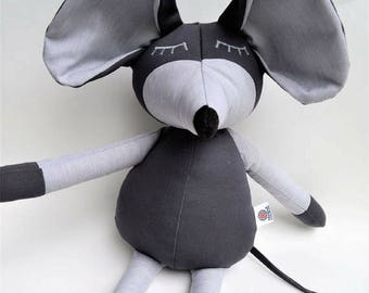 """Stuffed mouse 20""""  / mouse doll / handmade doll / baby shower gift / baby birth gift / animal plush / animal doll / bedroom decoration"""