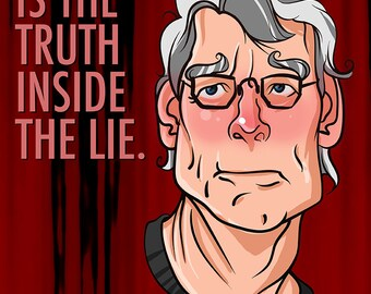 Stephen King, Quote, Digital Print, Art Print, Caricature