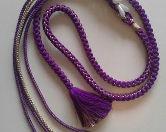 Ceremony lace / ceremony purple/gold lace