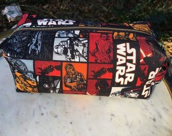 Toiletry Bag - Star Wars- The Last Jedi- The Force Awakens- Rey, Finn, Poe Dameron- School Supplies - Electronics case- Graduation Gift