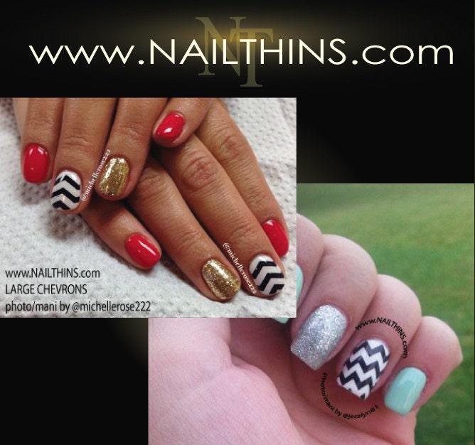Chevron Nail Decal Zig Zag Full Nail Wrap Striped Nail Art