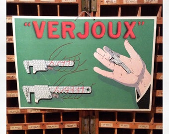 Vintage French Hardware Store Sign