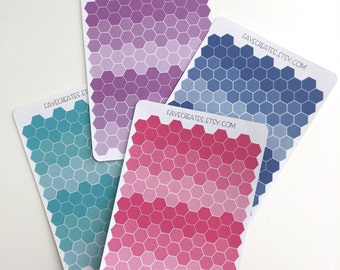 Mini hexagon stickers for Day Designer and other planners