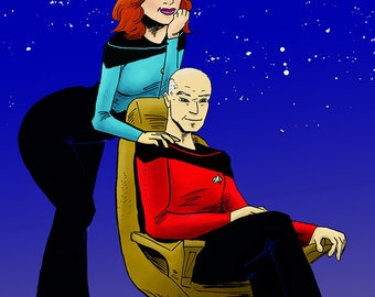 Picard and Crusher Print