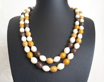 Long Beaded Tribal Necklace