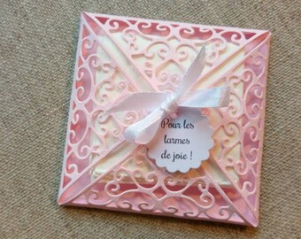 Pouch for the tears of joy, Pocket handkerchief, tears of joy, tears of joy, too full of emotion, handkerchief, wedding