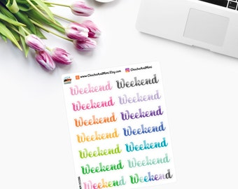 WEEKEND Planner Stickers CAM00286